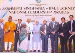 Ravi Rebbapragada recieving The National Leadership Award for Social Service